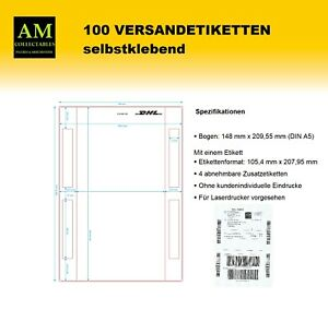 100-A5-DHL-910-300-700-VERSANDETIKETTEN-PAKETLABEL-PAKETSCHEIN