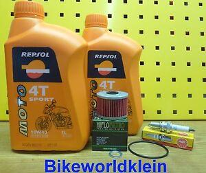 HONDA-NX-650-dominador-88-00-Filtro-de-aceite-bujia-Repsol-10w40-RD-02-08-MOTOR