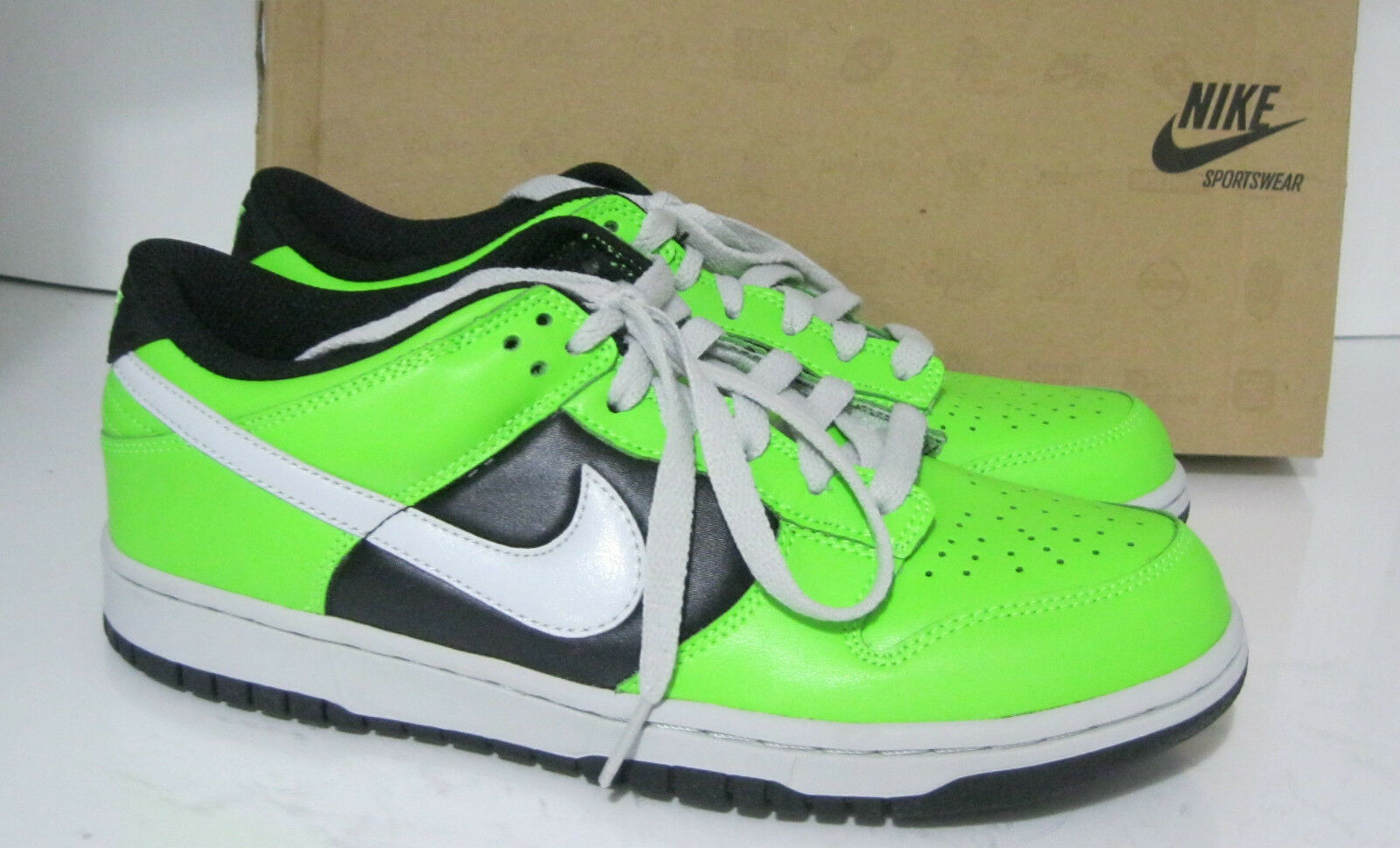Nike 8 Wmns Dunk Low Le Electric Green 317813-302 Size 8 Nike 592c03