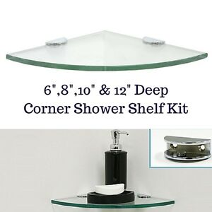 Beau Image Is Loading Corner Tempered Glass Shower Shelf Kit Rounded With