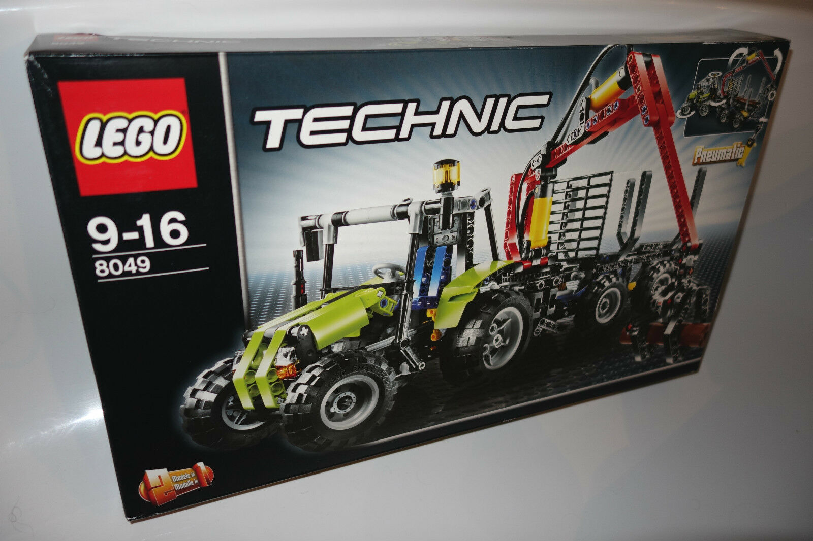 LEGO ® Technic 8049 TRATTORE CON GRU forestale NUOVO tractor with Log Loader NEW MISB