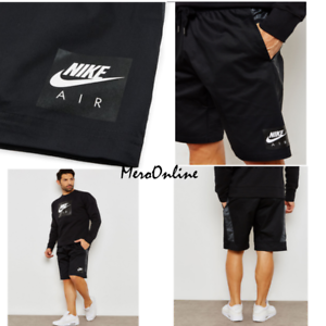 SZ-MEDIUM-COOL-Nike-Sportswear-Men-039-s-Air-Black-Knee-Length-Woven-Shorts-70