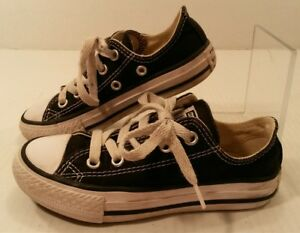 80b655fcb8a8 Converse AllStar Chuck Taylor Low BLACK Canvas Sport Shoes GIRL BOY ...