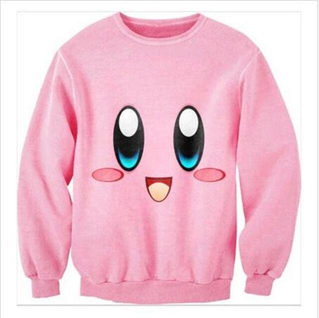 Fashion Women's/Men's Kirby lovable cartoon 3D Print Sweatshirt Hoodies XQ63