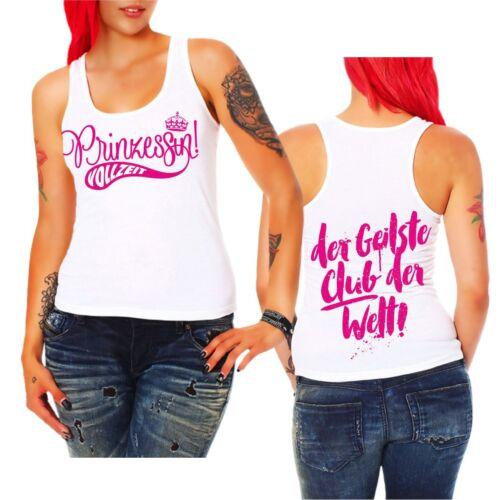 Mädchen Frauen Trägershirt Top Prinzessin VOLLZEIT Pink Girls Rosa Fun Geschenk