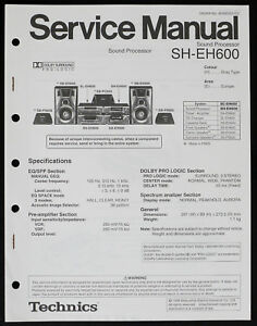 Technics sl-eh600 service manual download, schematics, eeprom.