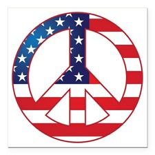 1853161759 CafePress Love Trumps Hate Square Car Magnet 3 X 3 Bumper Sticker