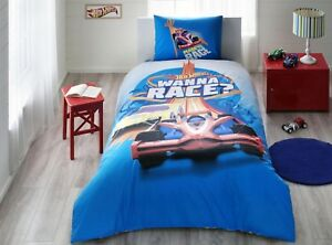 Hot Wheels Race Disney 100% Cotton Bedding Set Single Twin - FAST SHIPPING