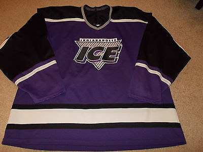 Fan Apparel & Souvenirs Sports Mem, Cards & Fan Shop Precise Vtg-1990s Indianapolis Ice Bauer Ihl Defunct Hockey Jersey With Traditional Methods