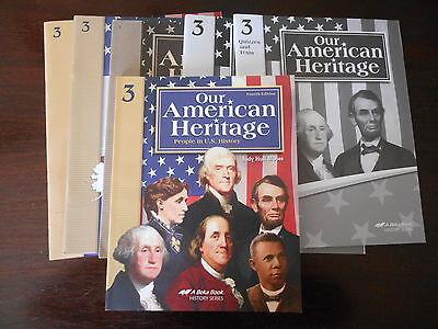 ABeka homeschooling OUR AMERICAN HERITAGE 3rdgr  student textbook/ teacher
