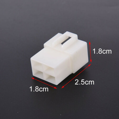 6.3Mm 4Pin Automotive Electrical Wire Connector Male Female Cable Terminal PRKUS