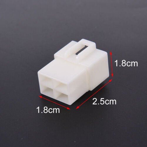 6.3mm 4pin automotive electrical wire connector male female cable terminal plugH