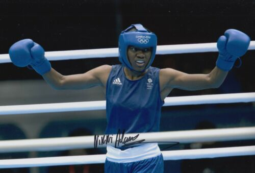 Nicola Adams Hand Signed Boxing 12x8 Photo Team GB 1.