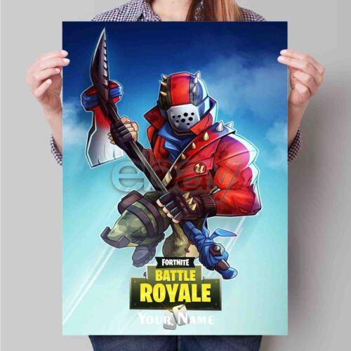 New Custom Personalized Art Print Poster Wall Decor 23Fortnite Rust Lord