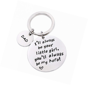 Details About Fathers Day Gifts From Daughter Mens Keychain Novelty Birthday Gift For Daddy Pa