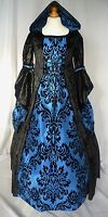 Girls Medieval Dress Renaissance Hooded Gown Made To Measure From Age 7 To 9 Yrs