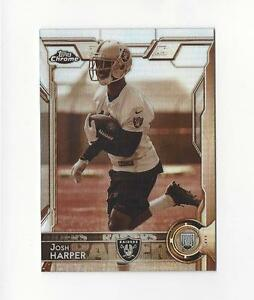 2015-Topps-Chrome-Mini-Sepia-Refractor-123-Josh-Harper-Rookie-Raiders