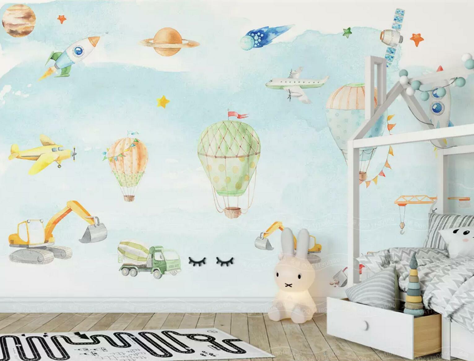 3D Hot Air Balloon 83 Wall Paper Exclusive MXY Wallpaper Mural Decal Indoor Wall