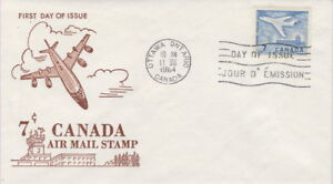 CANADA-414-7-JET-PLANE-ON-GINN-CACHET-FIRST-DAY-COVER