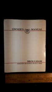 1989-CADILLAC-Brougham-Original-Owners-Manual-Very-Good-Condition-US