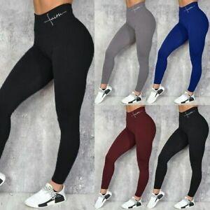 Leggins Deportivas Ropa Deportiva De Moda Licras Pantalones Para Yoga Mujer Ebay