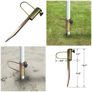 Image Is Loading 16 7 034 Pole Holder Anchor Stake Beach