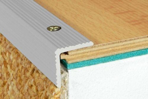 1 Pièces Angle Eckprofile alu escaliers Barre anodisé Inoxydable 1200x20x20mm a35