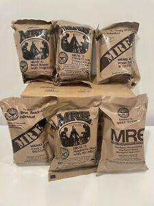 NEW Military D.O.D. Pack Of 3 Random MRE's, Meals Ready-to-Eat,