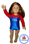 "thumbnail 1 - USA Gymnastics Leotard 18"" doll clothes fits American Girl Patriotic Olympics"