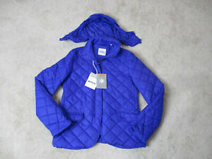 NEW-Aspesi-Quilted-Jacket-Womens-Medium-Blue-Nano-Puffer-Full-Zip-Coat-325