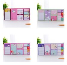 Korean Stationery Planner Cute Cartoon Unicorn Memo Pad Sticky Paper Book Marker