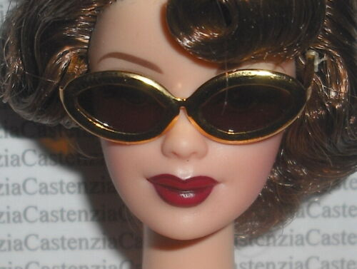 SUNGLASSES MATTEL BARBIE DOLL HOLLYWOOD PUBLICITY TOUR GOLD FRAME CAT GLASSES