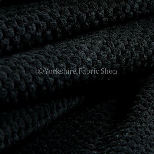 10 mètres de soft pointillée texturé en velours côtelé canapé recouvert de tissu couleur noir