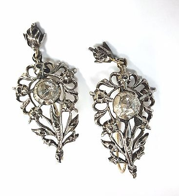 Old Antique Vintage Diamond Dangle Drop Earrings White Gold Victorian Jewelry Ebay