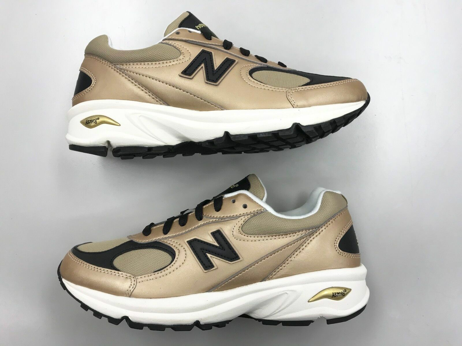 Brand New Men New Balance ML498 GB gold Leather running  walking shoes 0 9 7