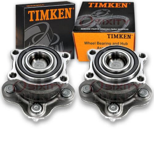 Timken Rear Wheel Bearing /& Hub Assembly for 2015-2017 Nissan Murano Pair hr