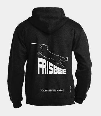 Logical Frisbee Full Zipped Dog Activity Hoodie Hoodies & Sweatshirts Exclusive Dogeria Design Attractive Appearance