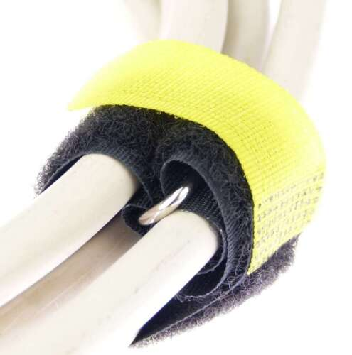 10 x cable velcro tape 20 cm x 20 MM Yellow Velcro Velcro Cable Ties Tape with Eyelet