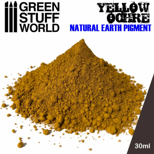Pigment YELLOW OCHRE Natural Earthy Powder Modelling Miniatures Figurines