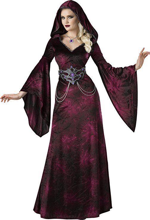 Incharacter Dunkel Gefilde Zauberin Hexe Hexe Hexe Erwachsene Damen Halloween Kostüm 11102 9b7765