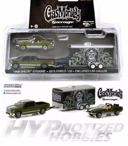 Greenlight 1:64 Gas Monkey Garage Set 3 Pezzi Modellino Verde 31010-a