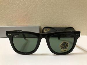 d2b715c86 Image is loading AUTHENTIC-Ray-Ban-Original-Wayfarer-Sunglasses-Green-Lens-