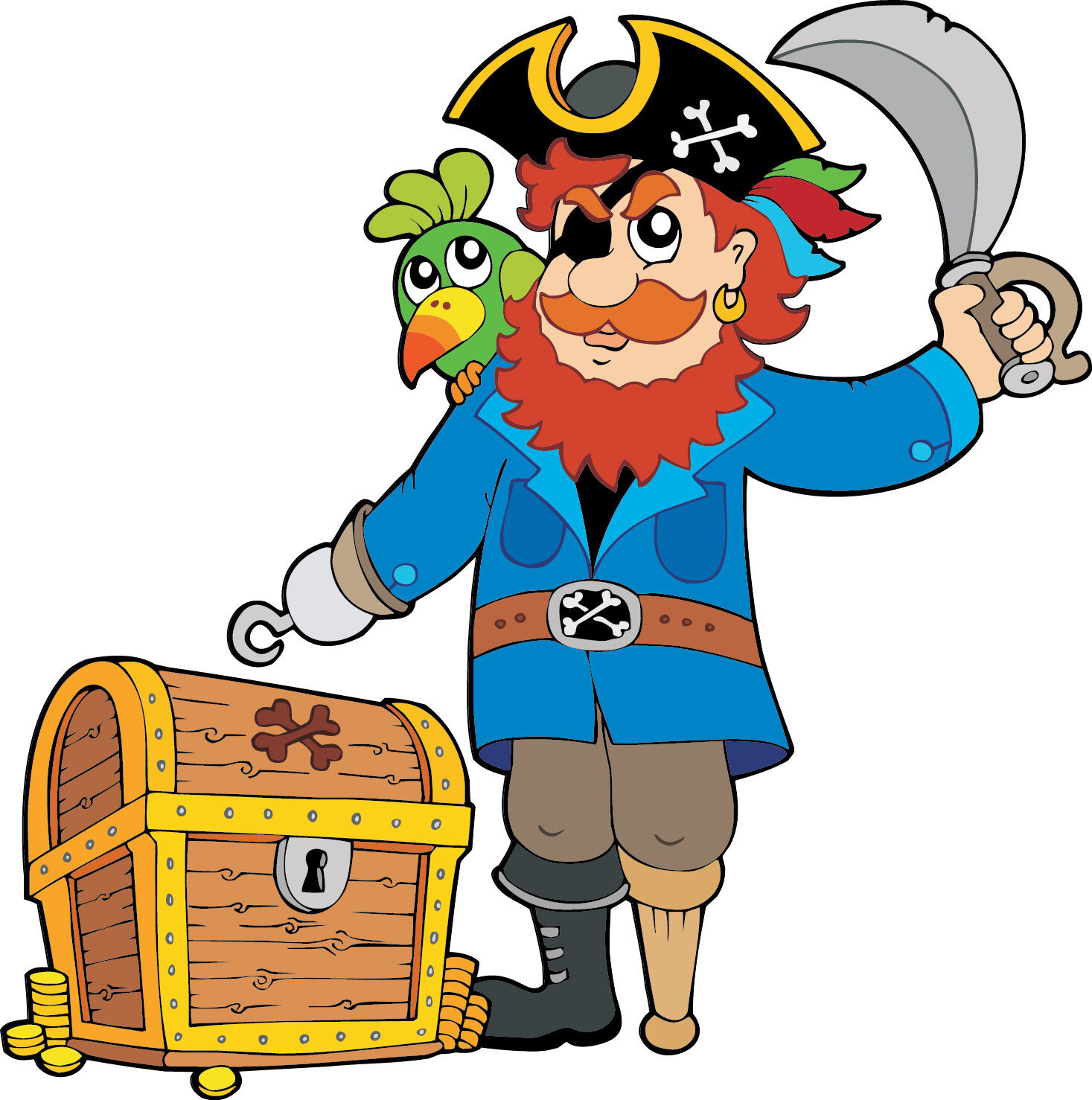 Aufkleber Kind Pirat Ref 2611 (Abmessungen der 10 cm 130 cm Höhe)