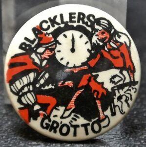 Vintage-BLACKLERS-GROTTO-PINBACK-Nice