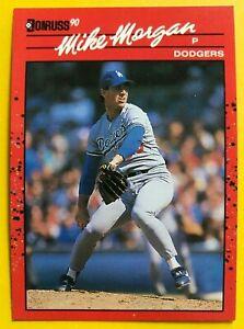 1990 NO Dot INC Period MIKE MORGAN Donruss 2 ERRORS MINT Baseball Card #132 RARE