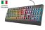 miniatura 1 - Tastiera gaming illuminata LED DA GIOCO TRUST 12 tasti multimediale mac windows