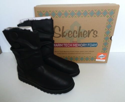 Skechers New Ladies Black Keepsakes 2.0 Memory Foam Boots Shoes RRP £70 Size 3-7