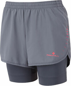 Grey To Be Highly Praised And Appreciated By The Consuming Public Fitness, Running & Yoga Ronhill Infinity Marathon Twin Womens Running Shorts