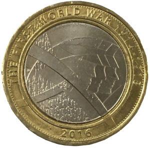 2016-UK-Muenze-Erste-Welt-Krieg-Gedenken-1914-1918-Die-Armee-Zwei-Pfund-Teile
