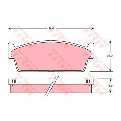 Scheibenbremse Trw Nissan Bremsbelagsatz 200 S13